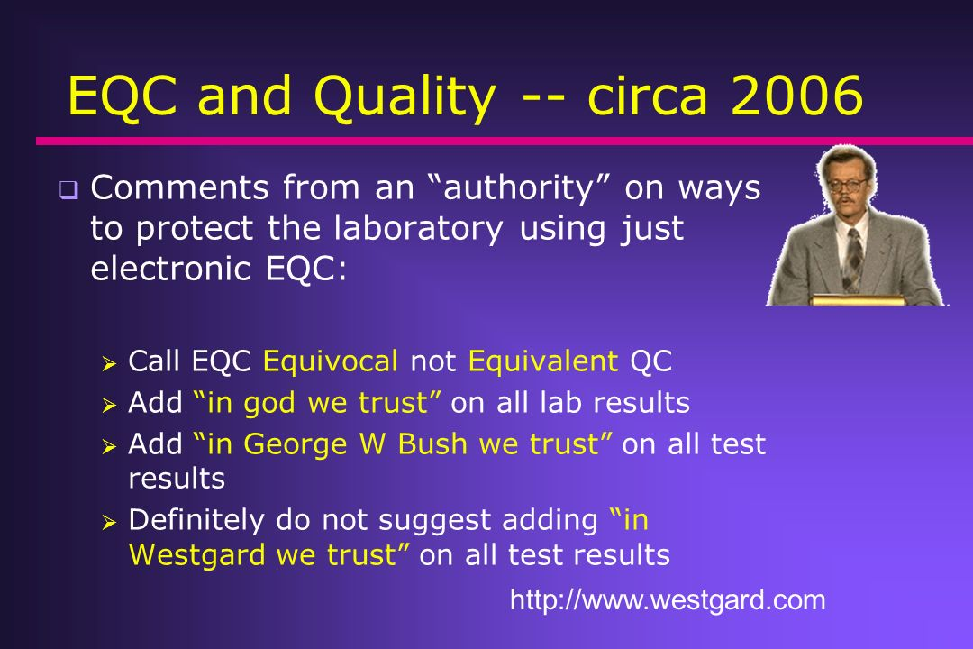 EQC and Quality -- circa 2006
