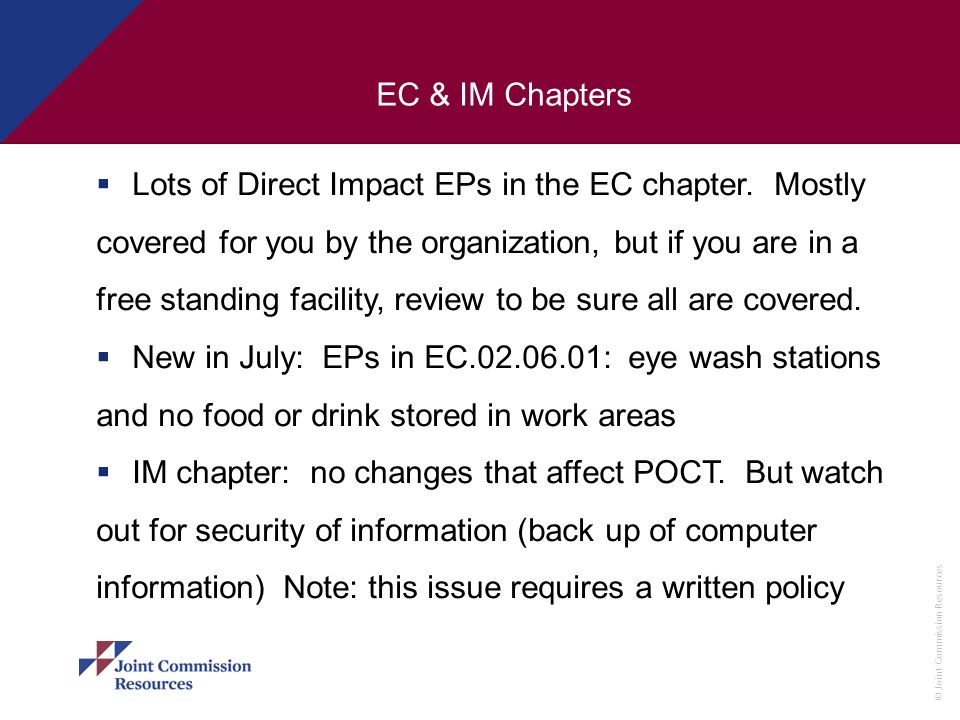 EC & IM Chapters