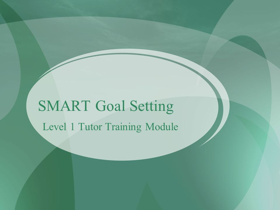 Level 1 Tutor Training Module