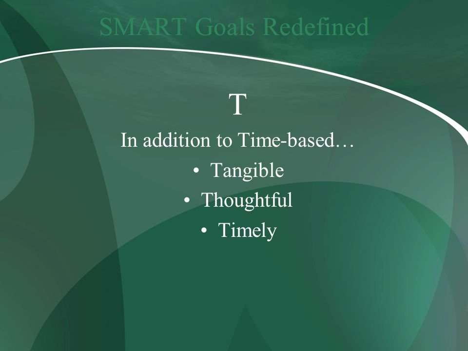 In addition to Time-based…
