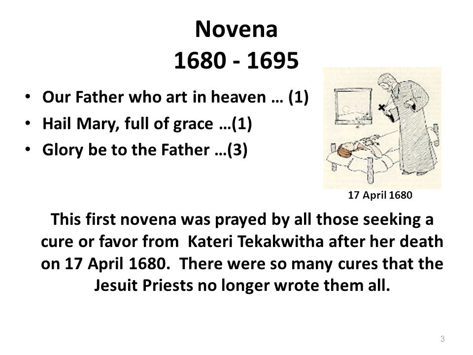 Novena 1680 - 1695 Our Father who art in heaven … (1)