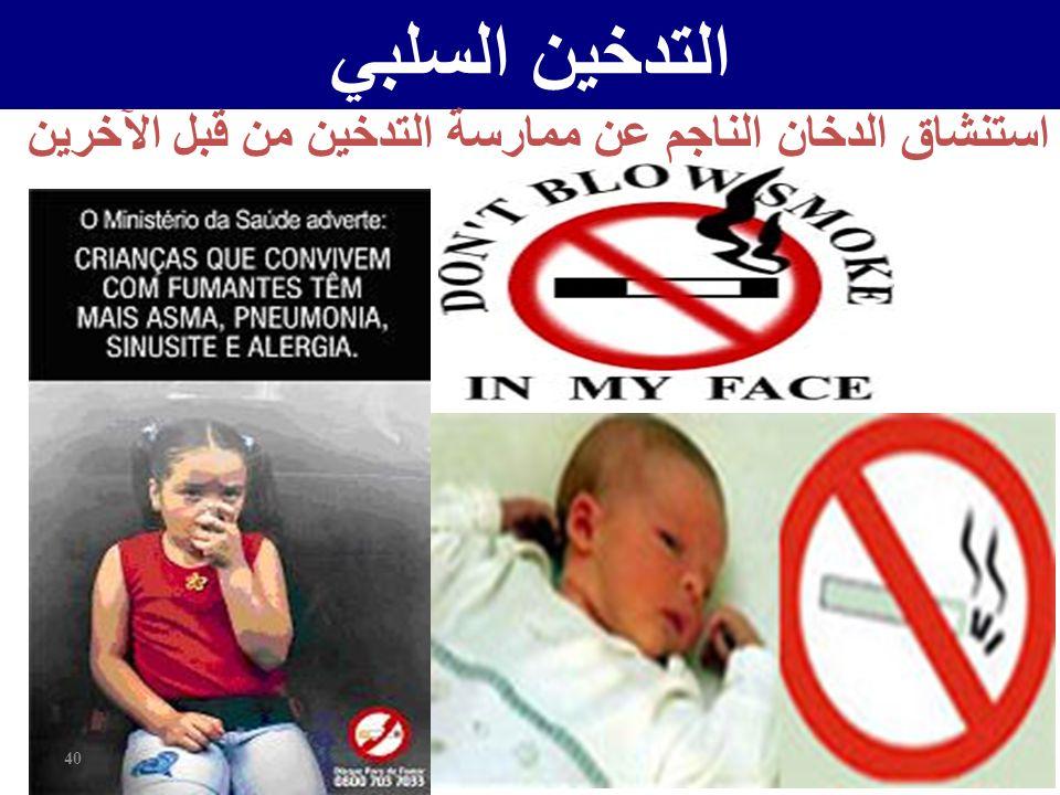 استنشاق الدخان الناجم عن ممارسة التدخين من قبل الآخرين