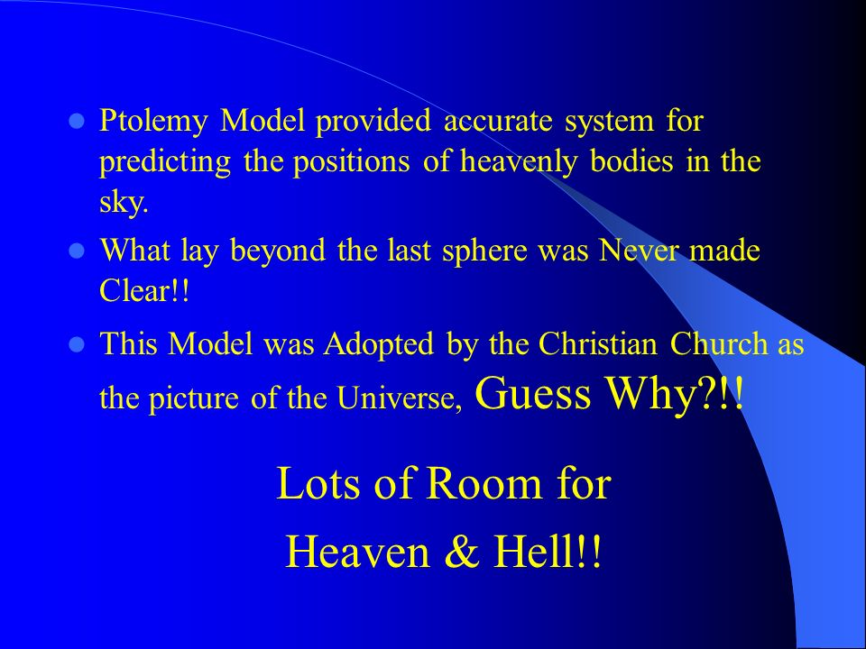 Lots of Room for Heaven & Hell!!