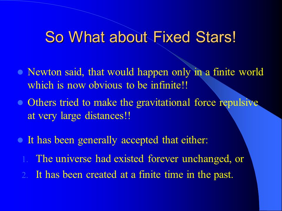 So What about Fixed Stars!
