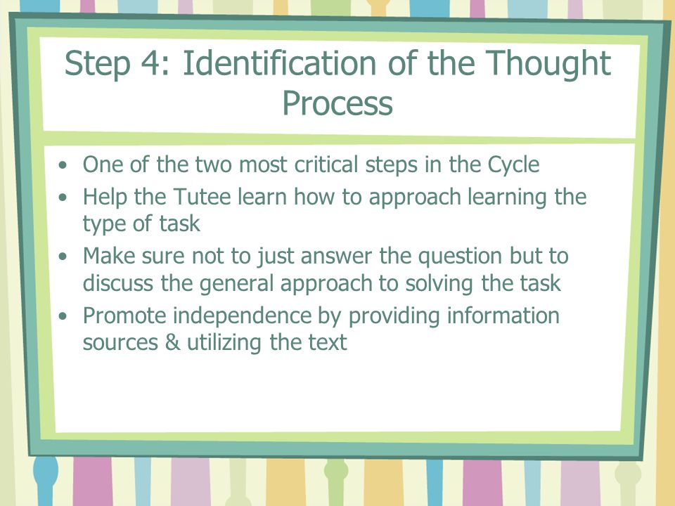 Step 4: Identification of the Thought Process