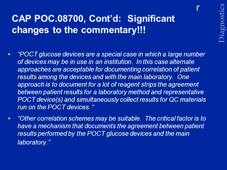 CAP POC.08700, Cont'd: Significant changes to the commentary!!!