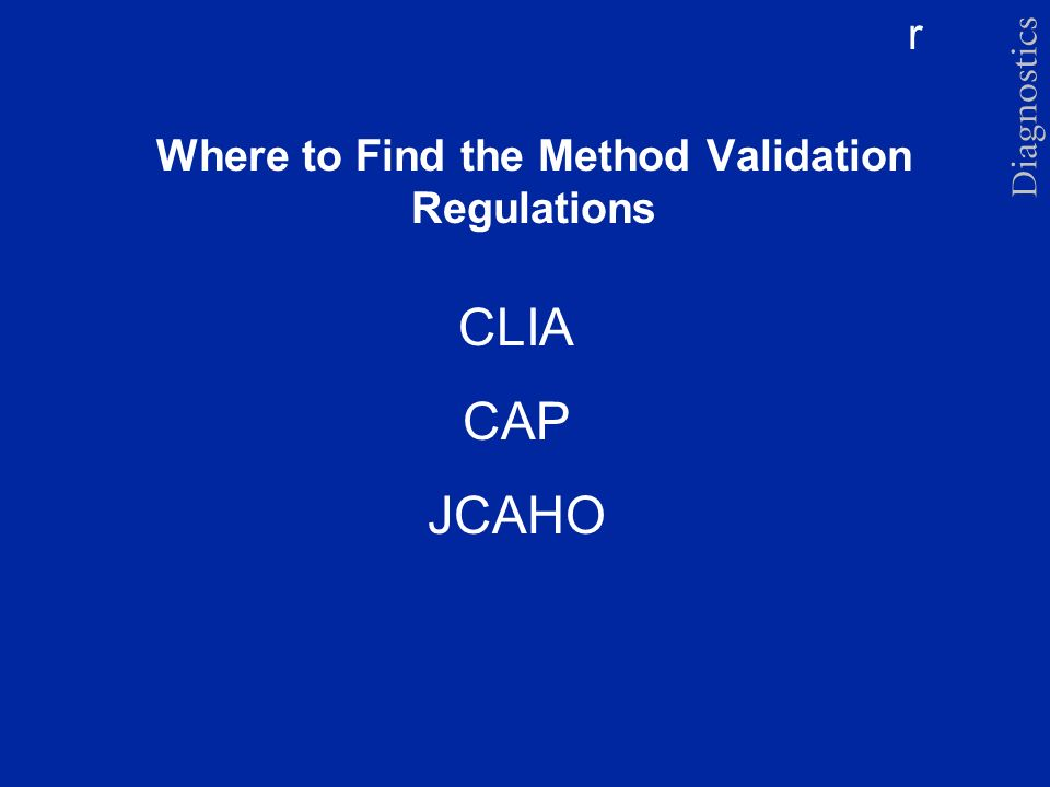 Where to Find the Method Validation Regulations