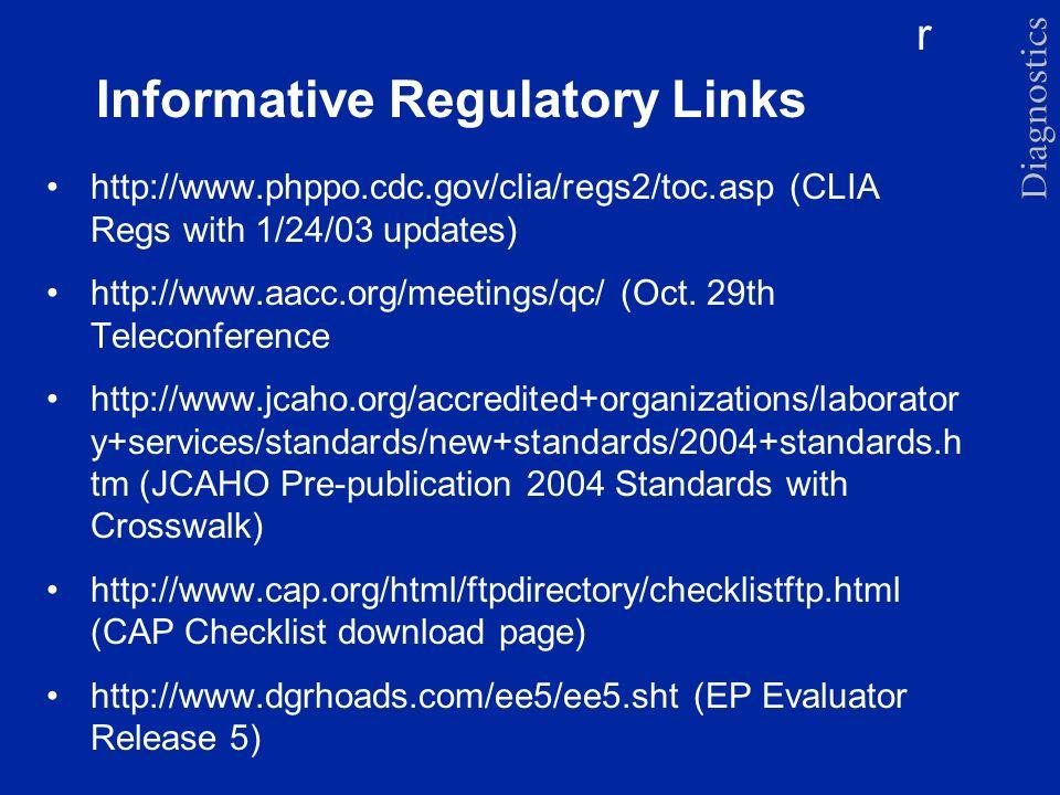 Informative Regulatory Links