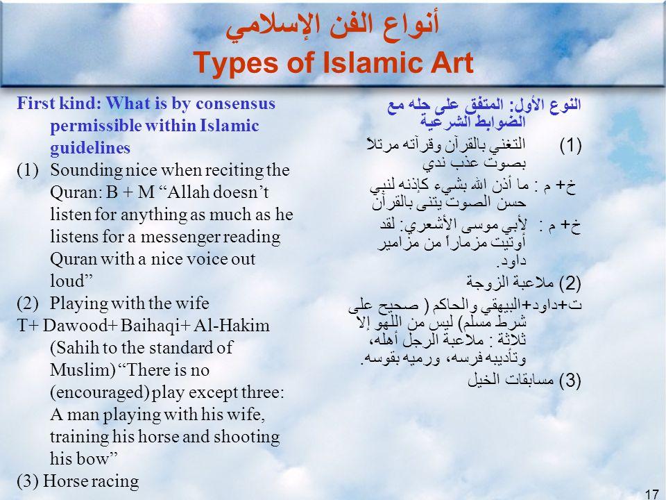 أنواع الفن الإسلامي Types of Islamic Art