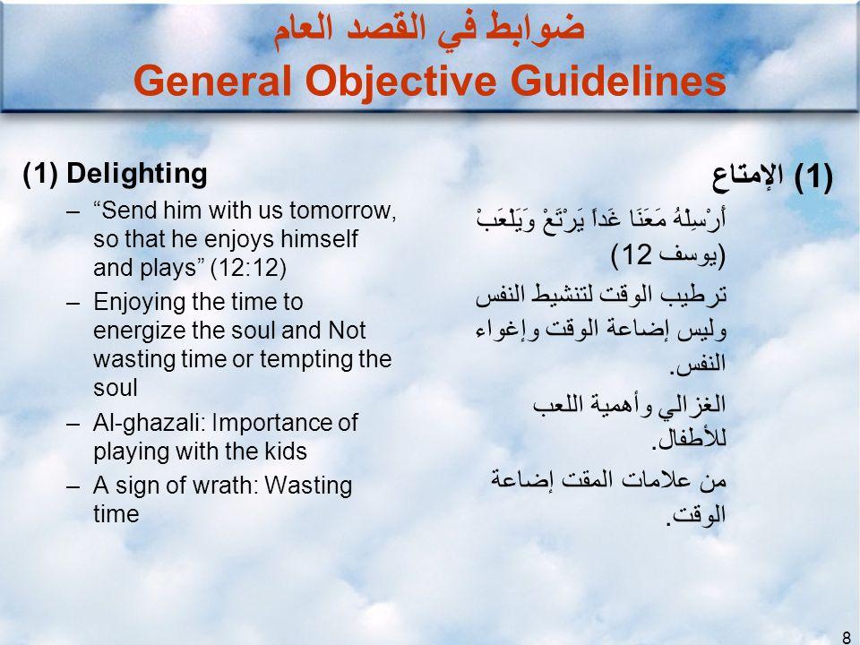 ضوابط في القصد العام General Objective Guidelines