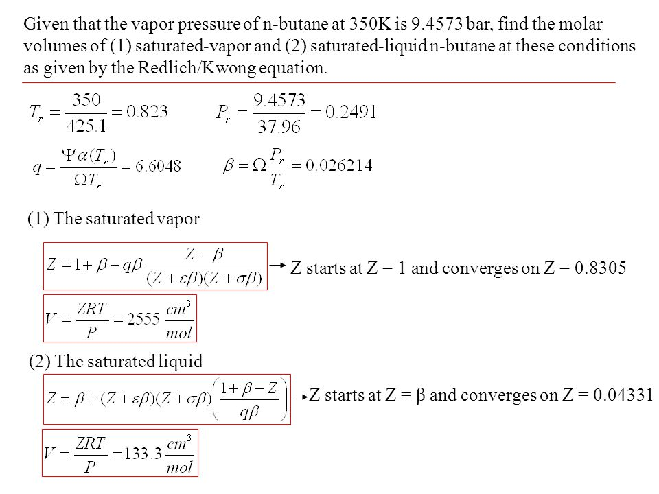 how to find vapor pressure at a given temperature