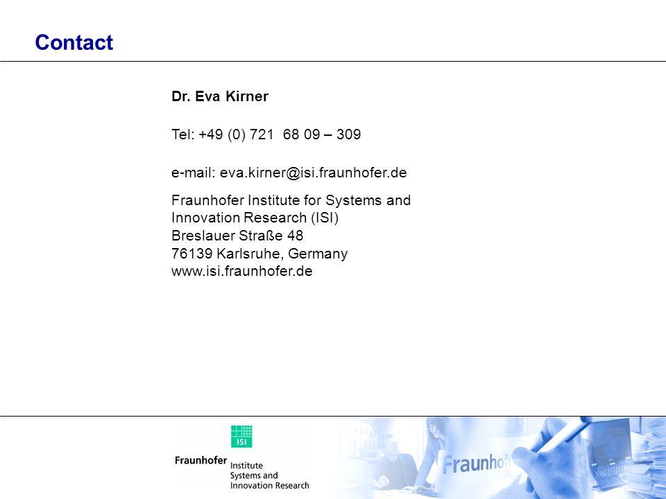 Contact Dr. Eva Kirner Tel: +49 (0) 721 68 09 – 309
