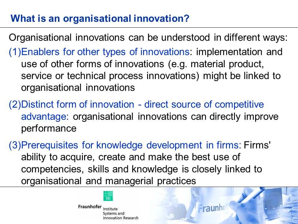 What is an organisational innovation