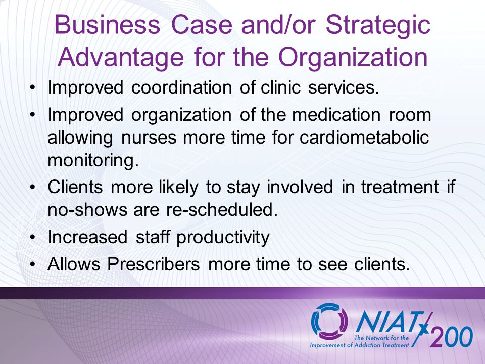 Business Case and/or Strategic Advantage for the Organization