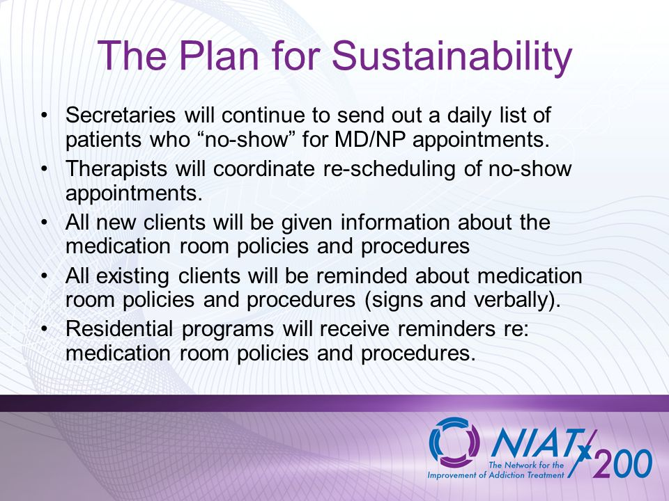 The Plan for Sustainability