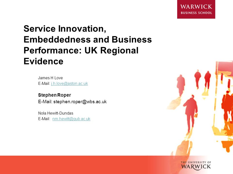 Service Innovation, Embeddedness and Business Performance: UK Regional Evidence
