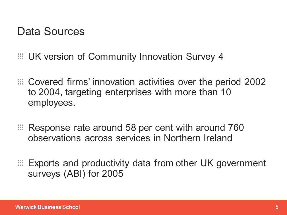 Data Sources UK version of Community Innovation Survey 4