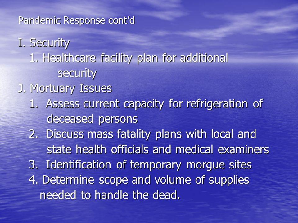Pandemic Response cont'd