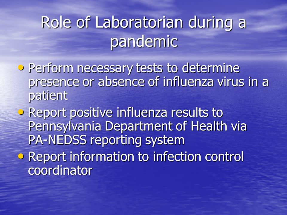 Role of Laboratorian during a pandemic