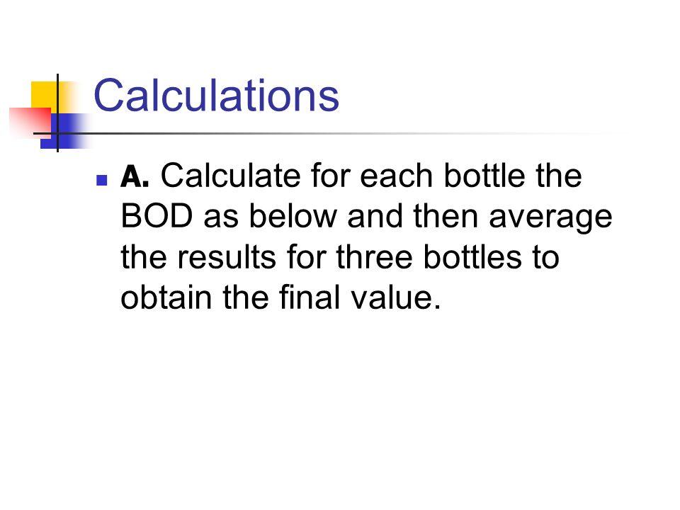 Calculations A.