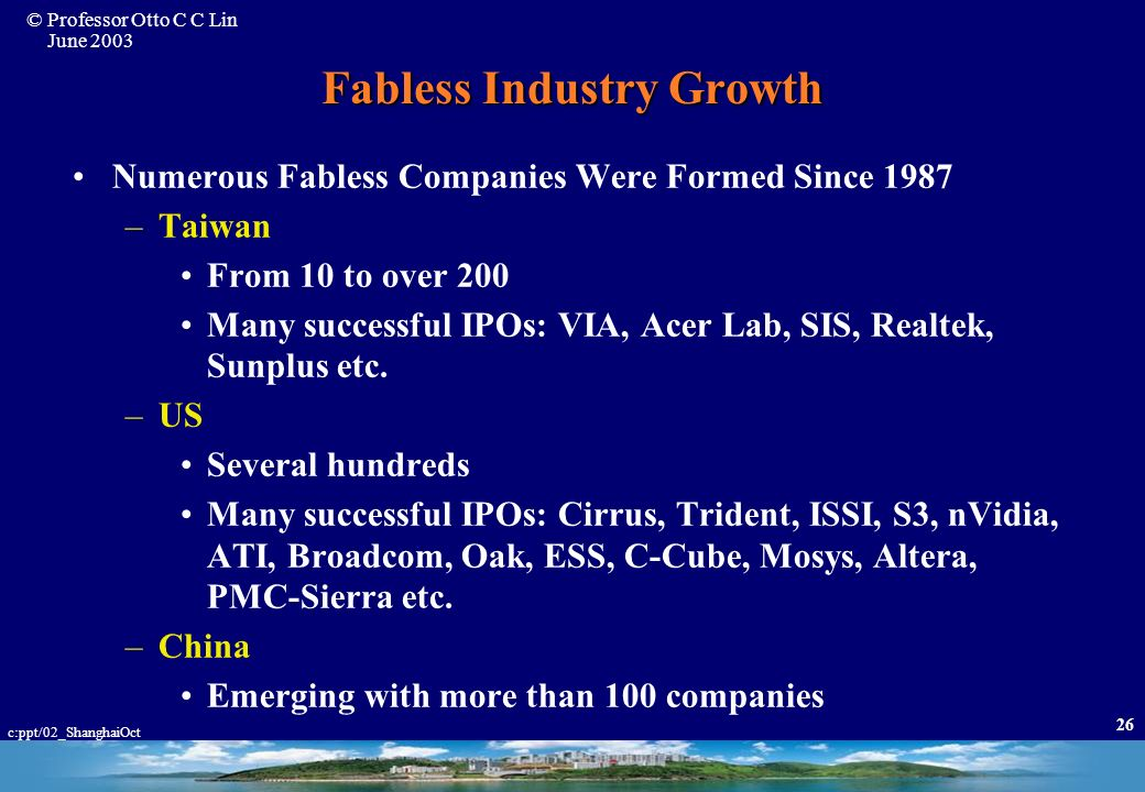 Fabless Industry Growth