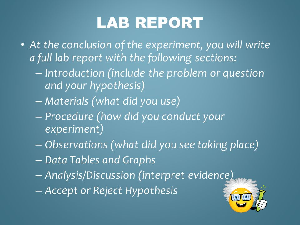 how to start a discussion in a lab report