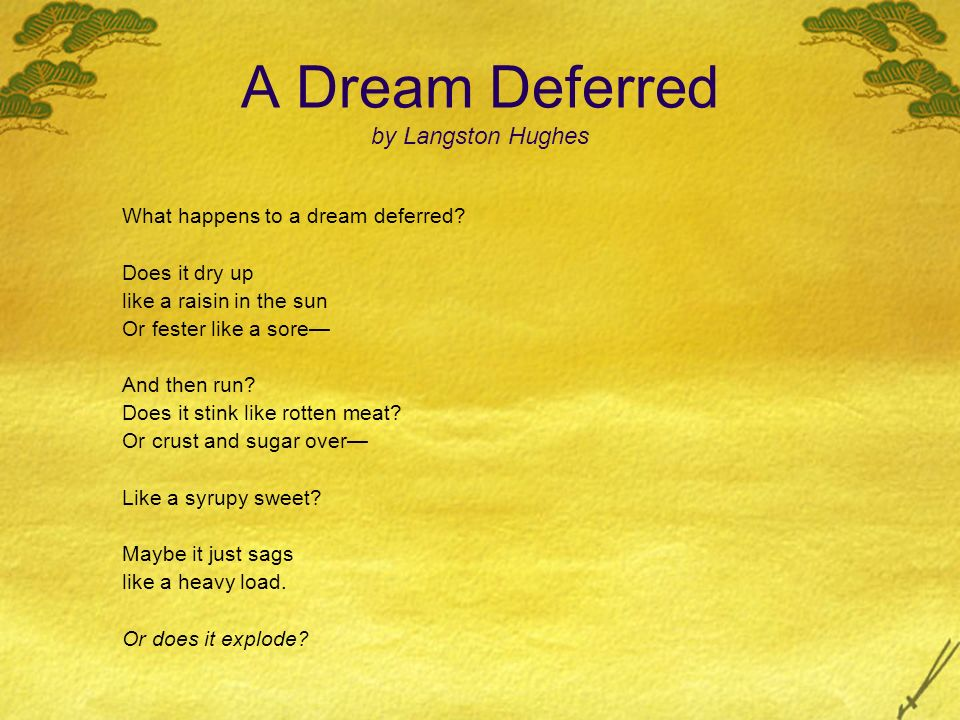 "Literary Analysis of ""Dreams"" and ""What Happens to a Dream Deferred"" by Langston Hughes"