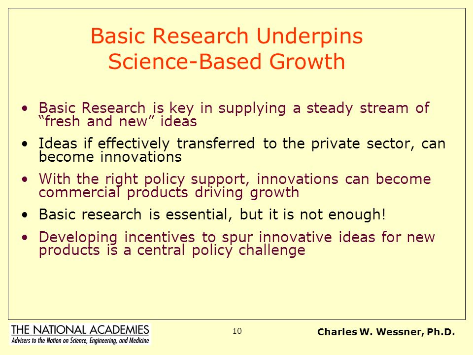Basic Research Underpins Science-Based Growth