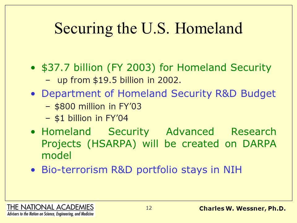 Securing the U.S. Homeland