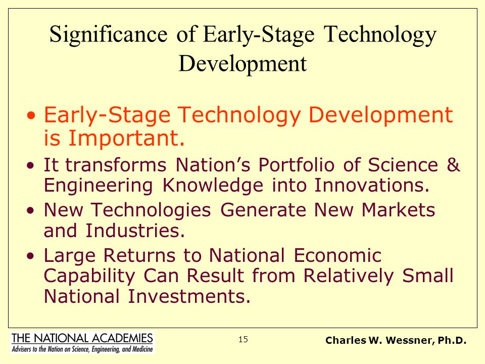 Significance of Early-Stage Technology Development