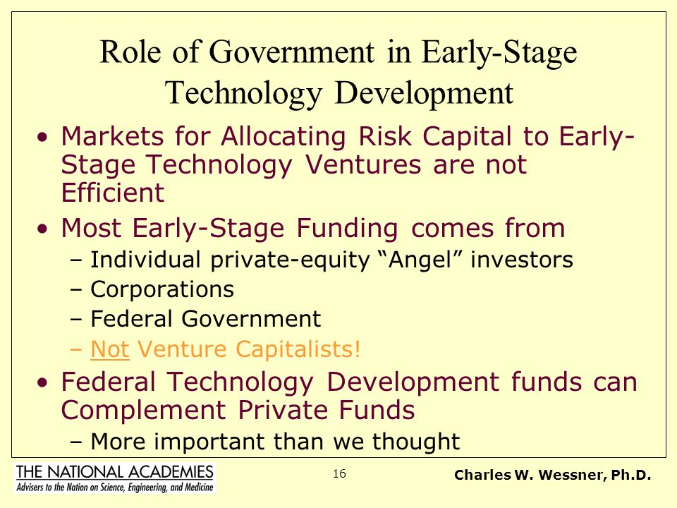 Role of Government in Early-Stage Technology Development