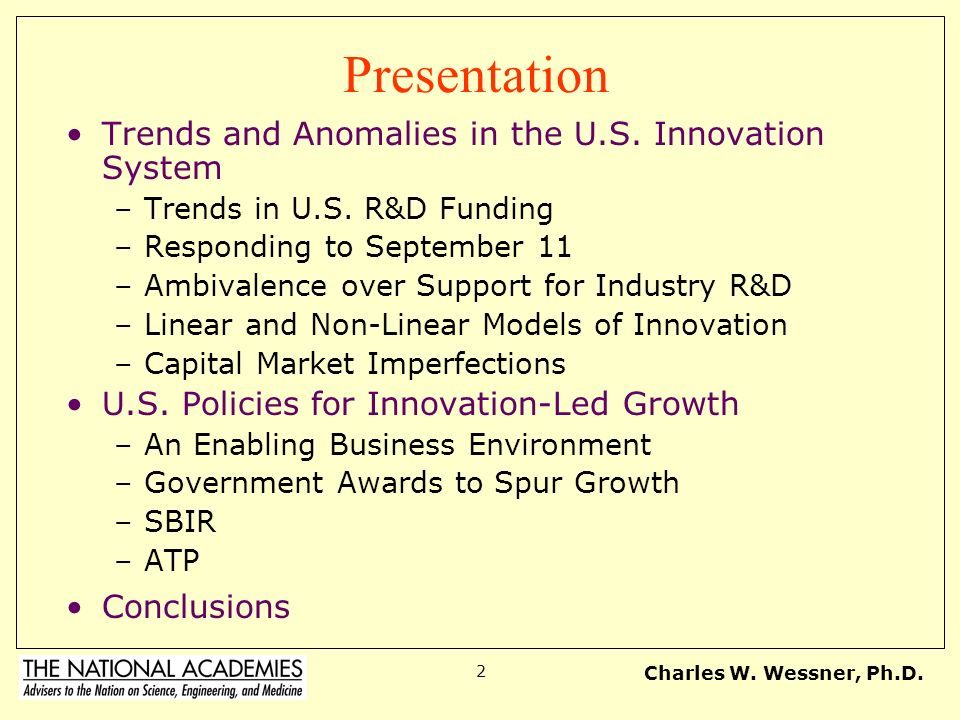 Presentation Trends and Anomalies in the U.S. Innovation System