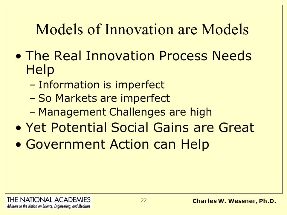 Models of Innovation are Models