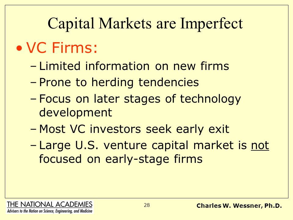 Capital Markets are Imperfect