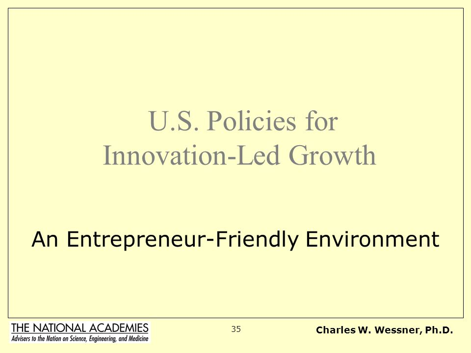 U.S. Policies for Innovation-Led Growth
