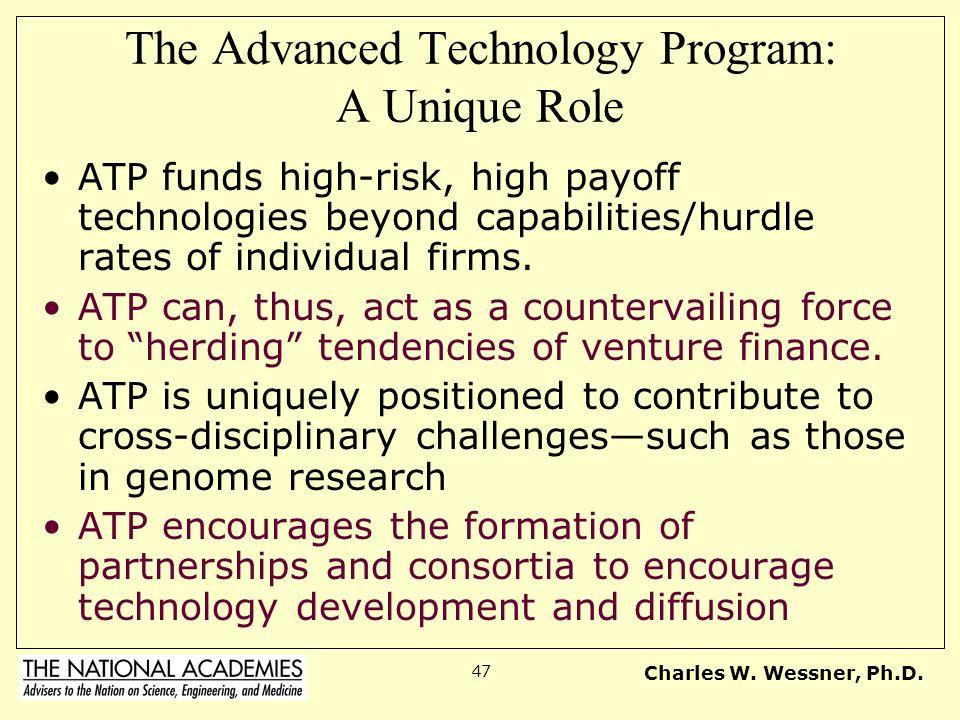 The Advanced Technology Program: A Unique Role