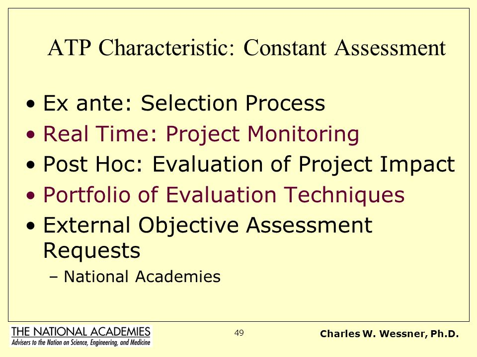 ATP Characteristic: Constant Assessment