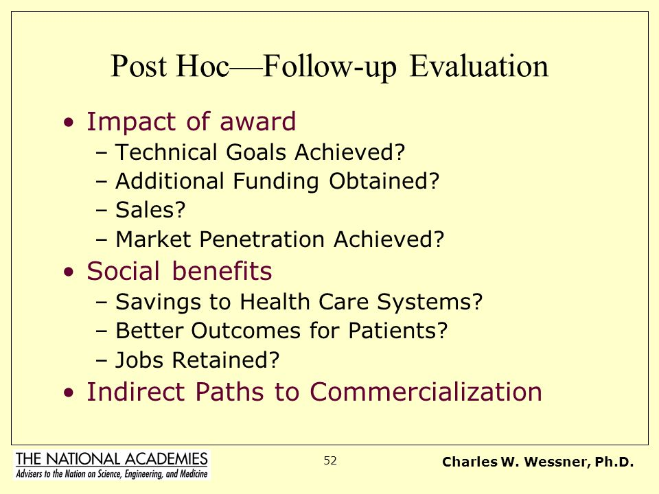 Post Hoc—Follow-up Evaluation