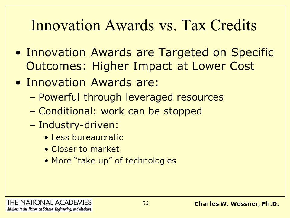 Innovation Awards vs. Tax Credits