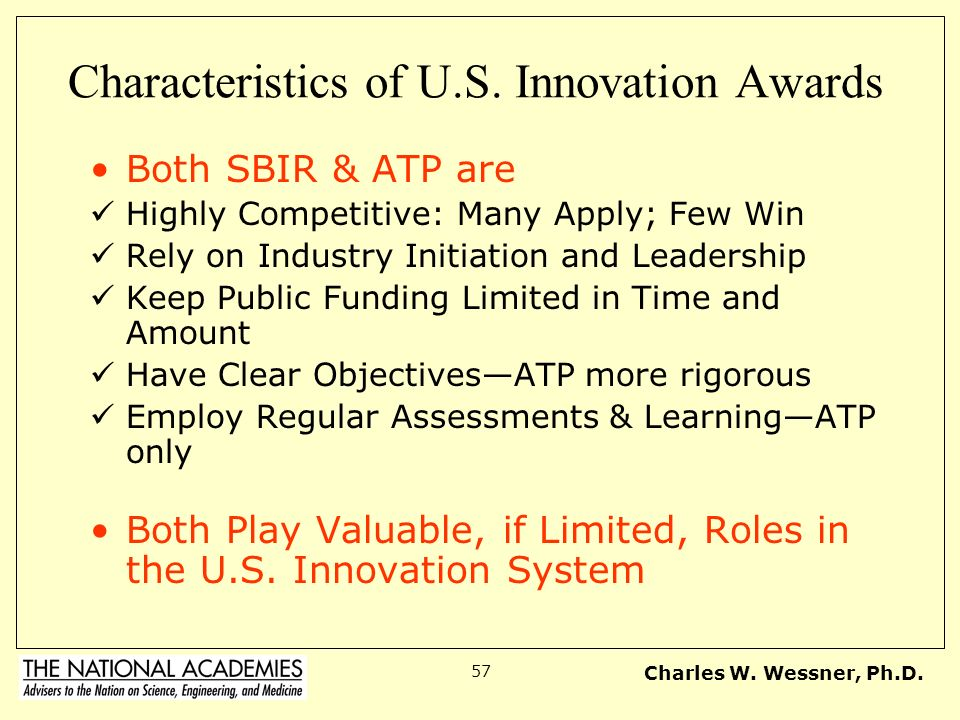 Characteristics of U.S. Innovation Awards