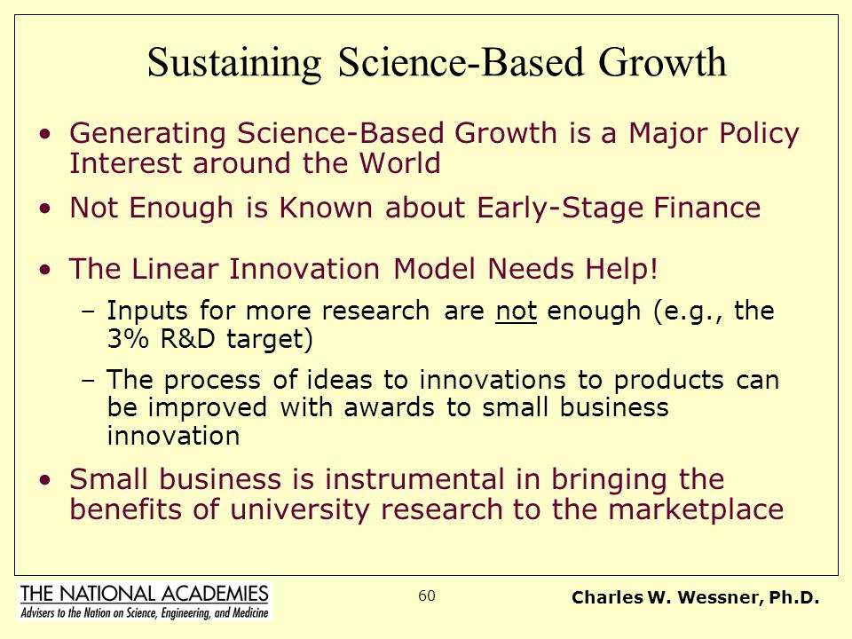 Sustaining Science-Based Growth