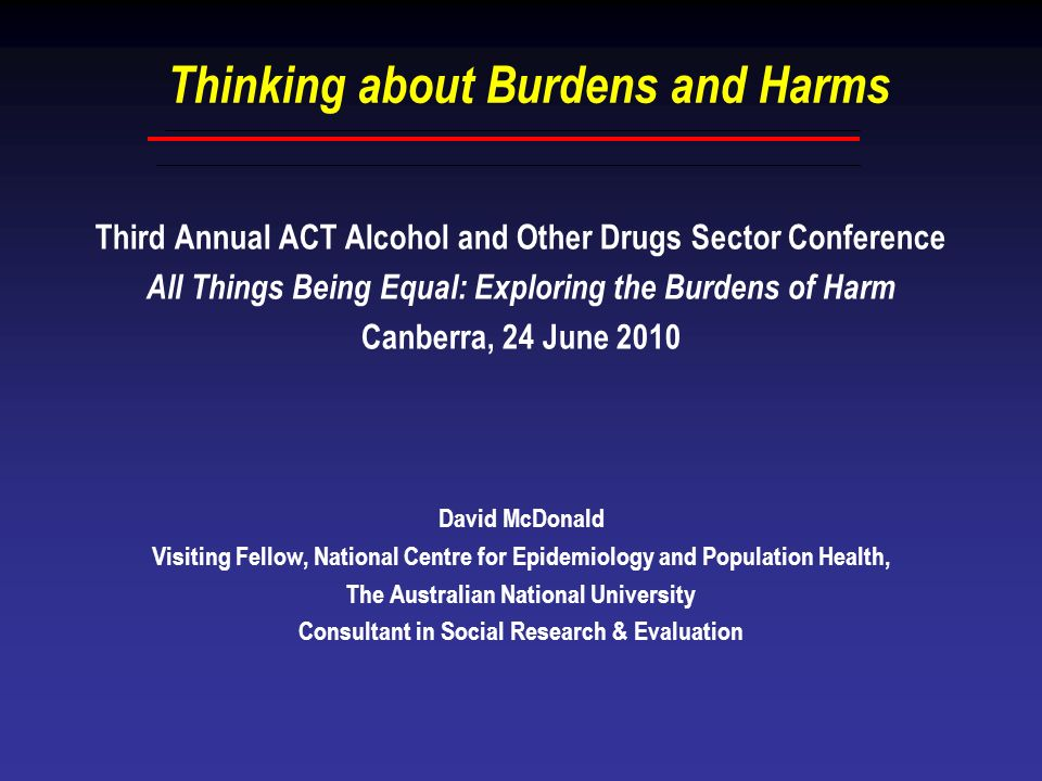 Thinking about Burdens and Harms