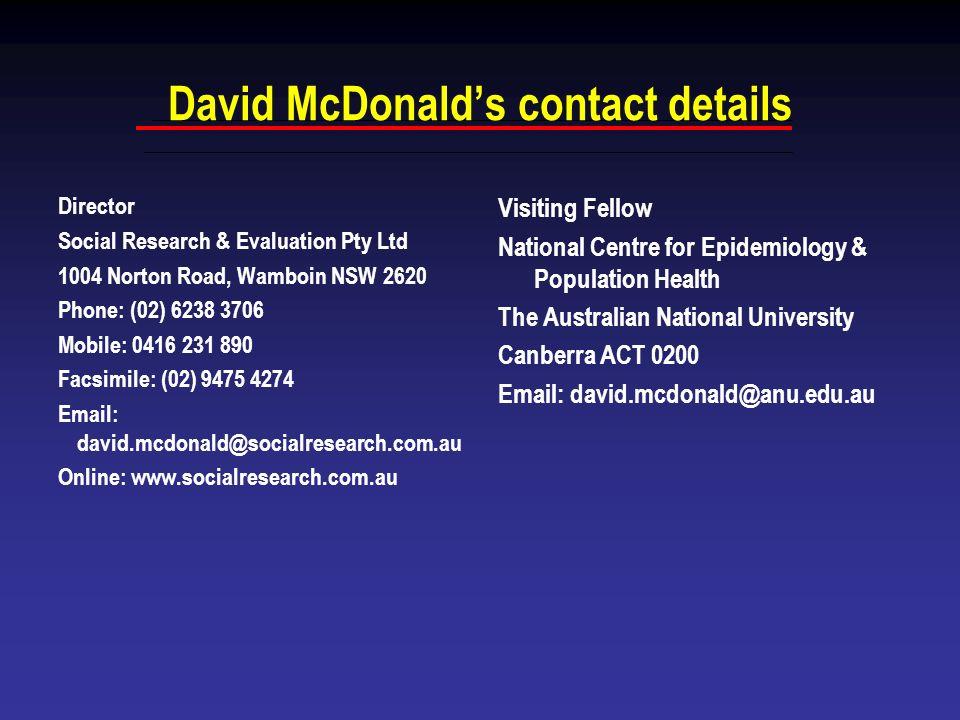David McDonald's contact details