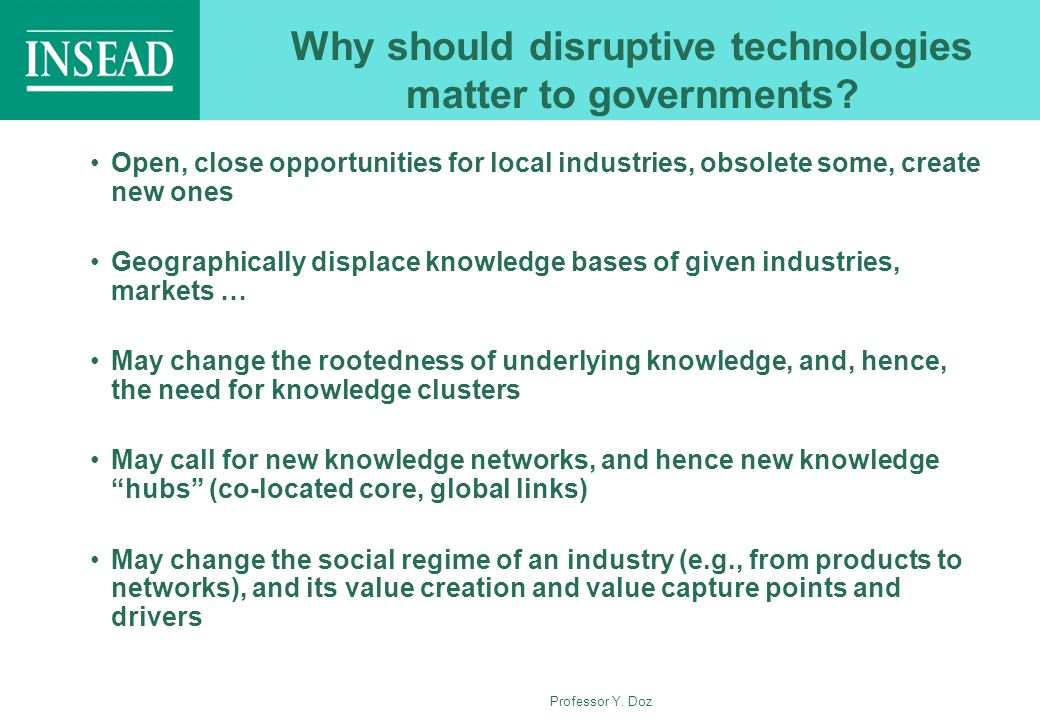 Why should disruptive technologies matter to governments