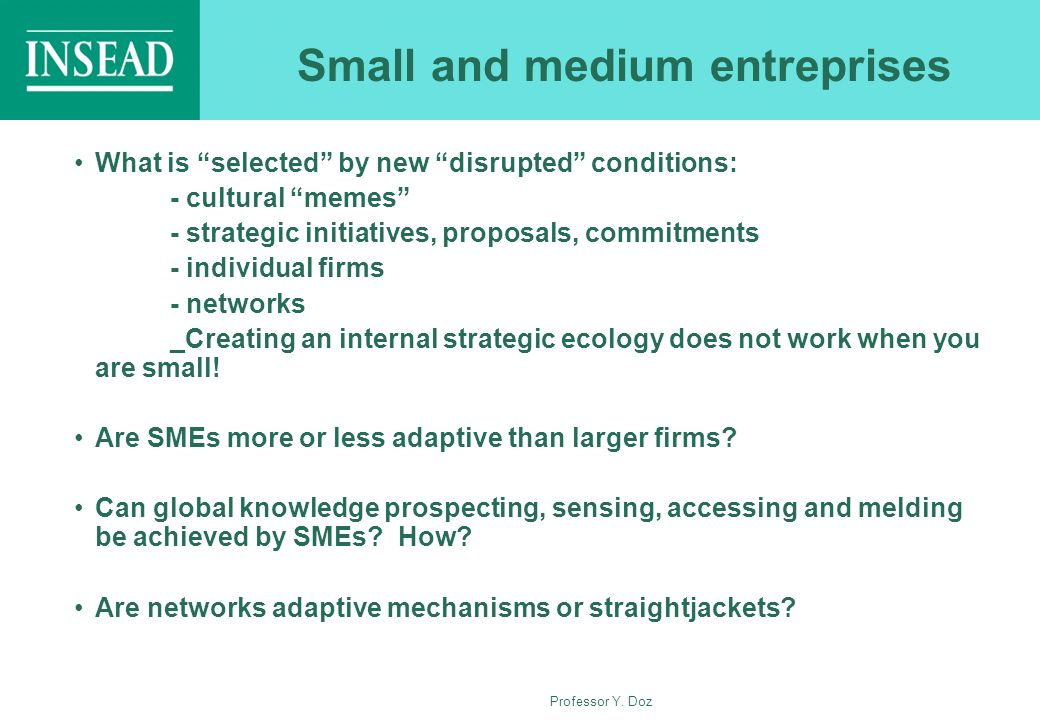 Small and medium entreprises