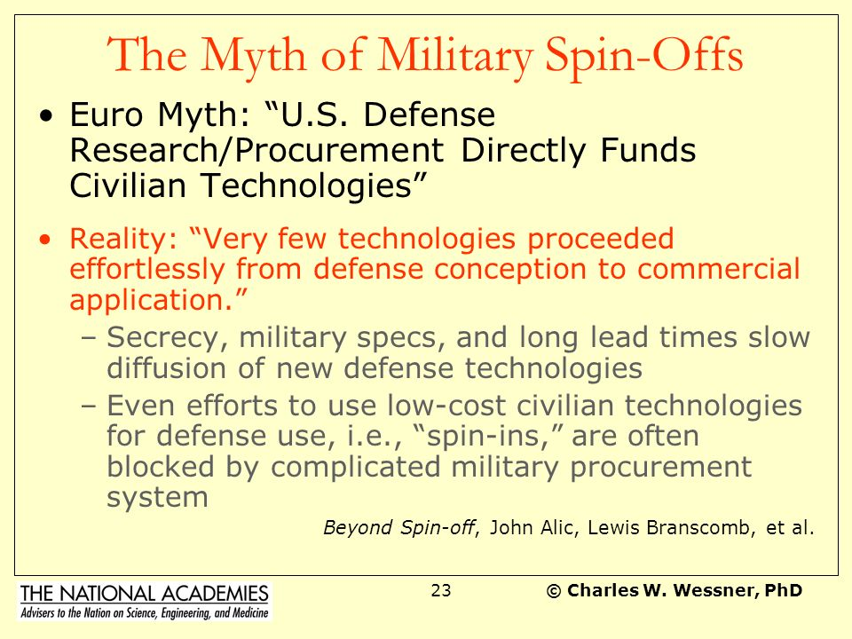 The Myth of Military Spin-Offs