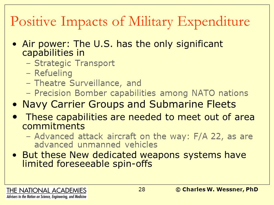 Positive Impacts of Military Expenditure