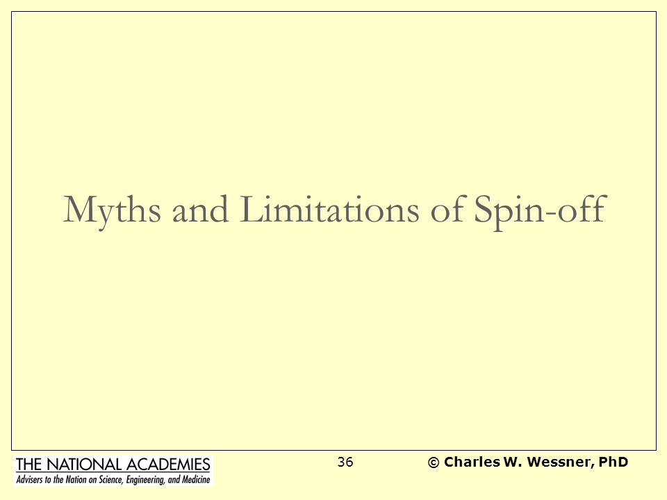 Myths and Limitations of Spin-off