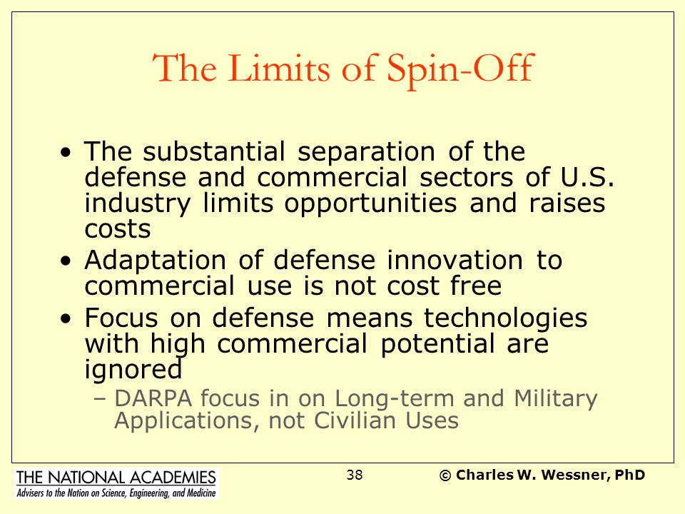 The Limits of Spin-Off The substantial separation of the defense and commercial sectors of U.S. industry limits opportunities and raises costs.