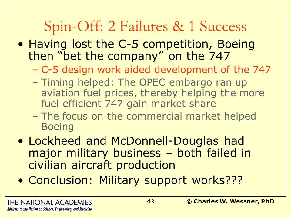 Spin-Off: 2 Failures & 1 Success
